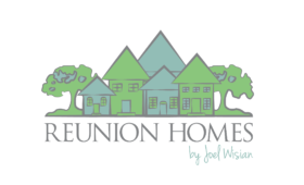 Logo for Reunion Homes by Joel Wisian