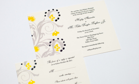 Wedding Invitation and RSVP Card